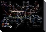 Toiles imprimées Black london underground map 70x100cm