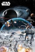 Poster du film star wars bataille dans l espace