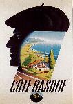 Affiche vintage Côte Basque