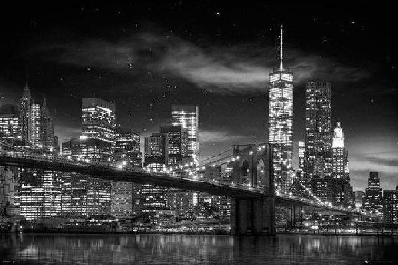 affiche noir blanc de new york acheter affiche noir blanc de ne. Black Bedroom Furniture Sets. Home Design Ideas
