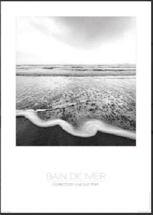 poster photo noir blanc bain de mer acheter poster. Black Bedroom Furniture Sets. Home Design Ideas