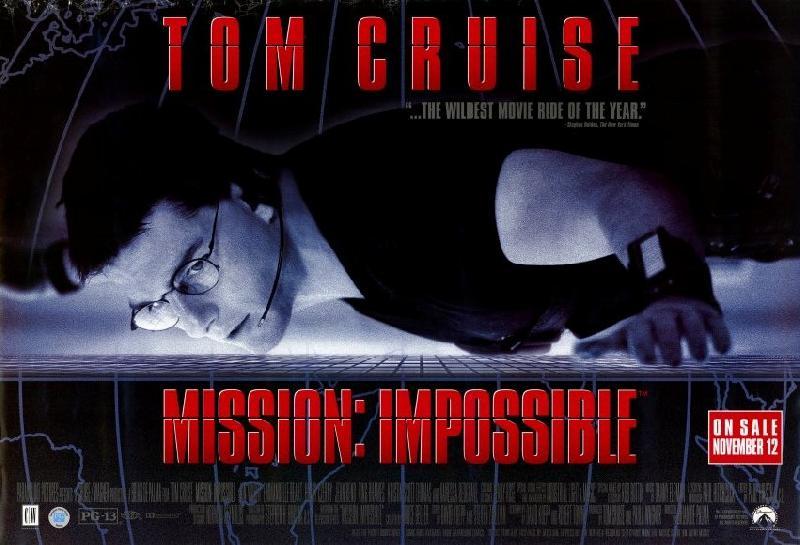 affiche du film mission impossible acheter affiche du film mission impossible 25453. Black Bedroom Furniture Sets. Home Design Ideas