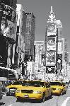 Affiche taxi jaune à times square