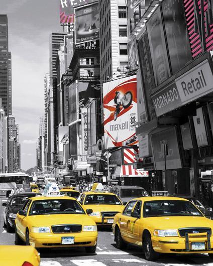 affiche taxi jaune à new york - acheter affiche taxi jaune à new