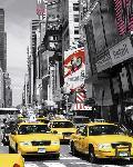 Affiche taxi jaune à New York