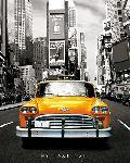 Affiche d'un taxi jaune à new-york