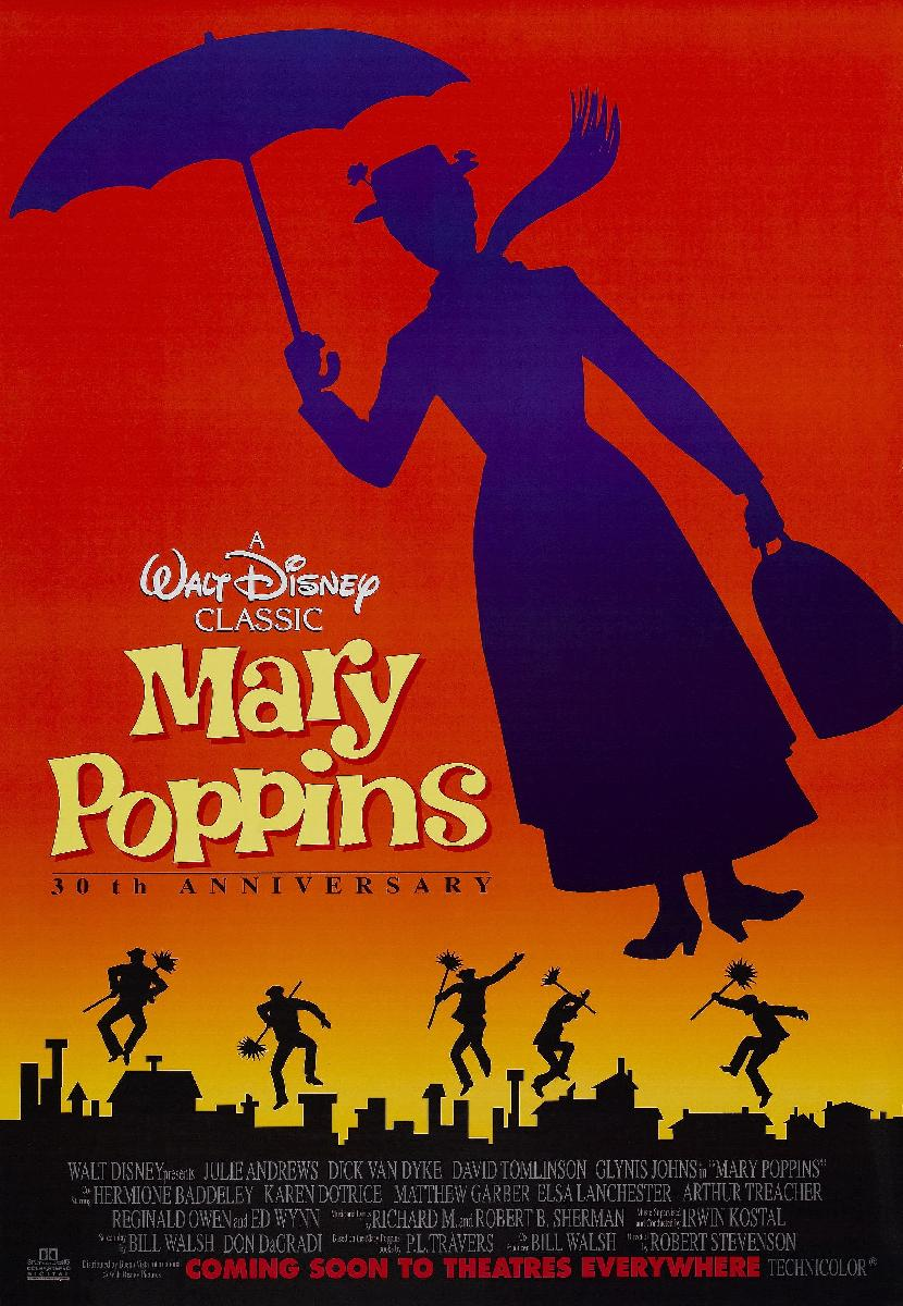 affiche du film mary poppins acheter affiche du film mary poppins 2672 affiches et. Black Bedroom Furniture Sets. Home Design Ideas