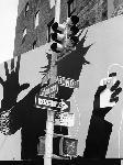 Poster noir et blanc de Henri Silberman Bond Street Billboard