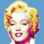 Poster pop art de Wyndham Boulter Marilyn in Blue