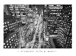 Poster noir et blanc de Henri Silberman Park Avenue at Night