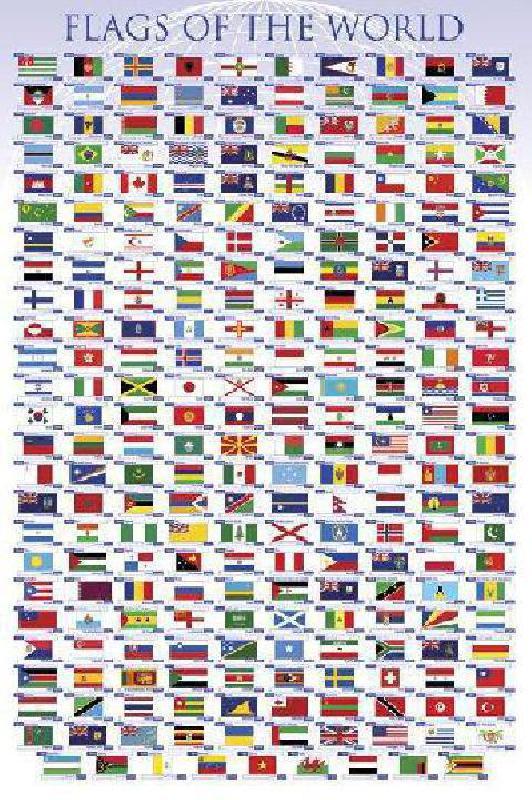 poster les drapeaux du monde acheter poster les drapeaux du monde 2752 affiches et. Black Bedroom Furniture Sets. Home Design Ideas