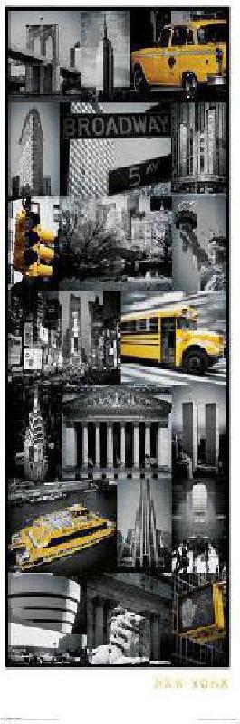 Poster montage ville de new york acheter poster montage for Ville a new york