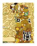 Peinture de Gustav Klimt L'Accomplissement