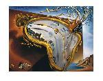 Peinture de Salvador Dali Montre Molle au Moment