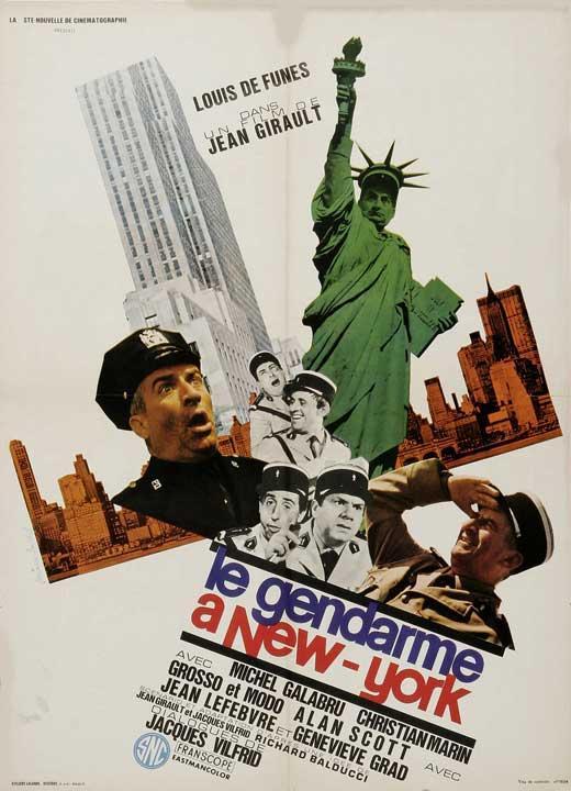 affiche du film le gendarme new york acheter affiche du film le gendarme new york 2907. Black Bedroom Furniture Sets. Home Design Ideas