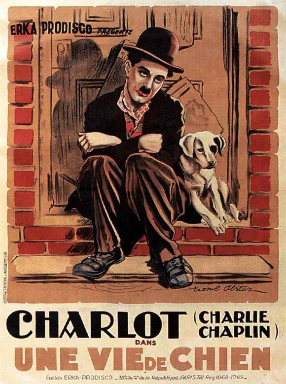 affiche du film charlie chaplin une vie de chien acheter affiche du film charlie chaplin une. Black Bedroom Furniture Sets. Home Design Ideas