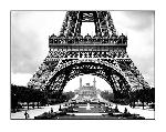 Affiche noir et blanc de Roger-Viollet La Tour Eiffel et le Vieux Trocadéro
