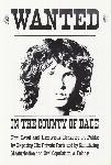 Poster noir et blanc de Jim Morrison