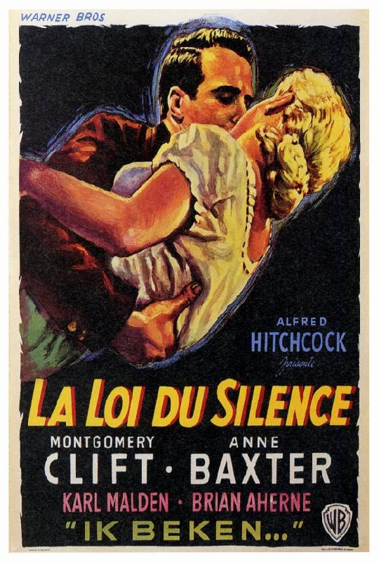 poster du film de alfred hitchcock la loi du silence acheter poster du film de alfred. Black Bedroom Furniture Sets. Home Design Ideas