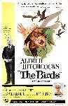 Affiche du film les Oiseaux de Hitchcock (the birds)