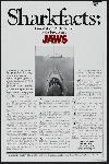 Affiche noir et blanc des Dents de la mer (jaws)