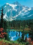 Photo murale de montagne (4 panneaux à coller)