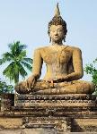 Photo murale d'un Bouddha (4 panneaux à coller)