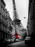 Toile imprimée de la veste rouge à Paris