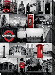 Toile imprimée montage photo de Londres