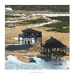 Affiche Cabanes Tchanquées - Bassin d'Arcachon