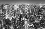 Photo murale vue aérienne de New York (8 panneaux à coller)