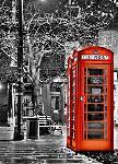 Photo murale d'une cabine téléphonique, Londres (4 panneaux à coller)