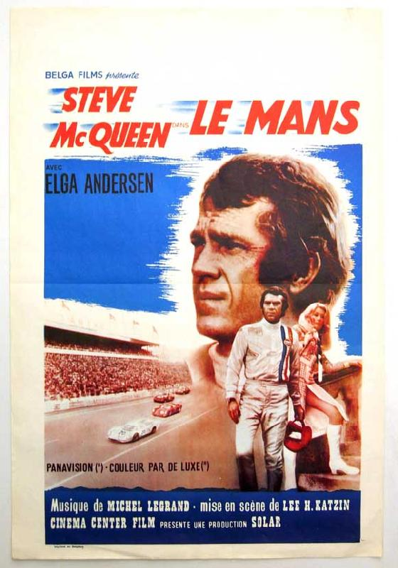 affiches posters affiche du film le mans. Black Bedroom Furniture Sets. Home Design Ideas