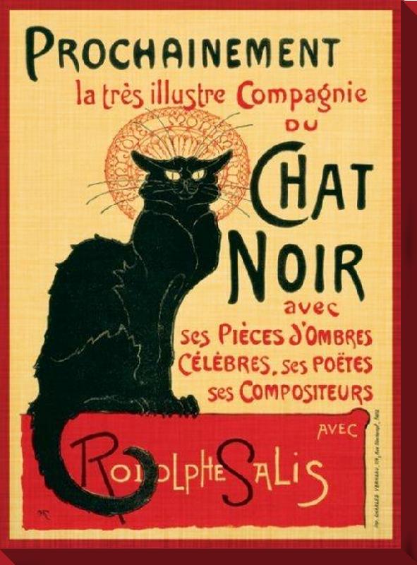 affiches posters toile imprim e le chat noir. Black Bedroom Furniture Sets. Home Design Ideas