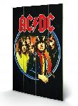 Impression sur bois du groupe AC/DC Group