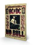 Impression sur bois groupe AC/DC No Bull