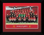 Photo pré encadrée de l'équipe de foot Manchester United 2012 2013