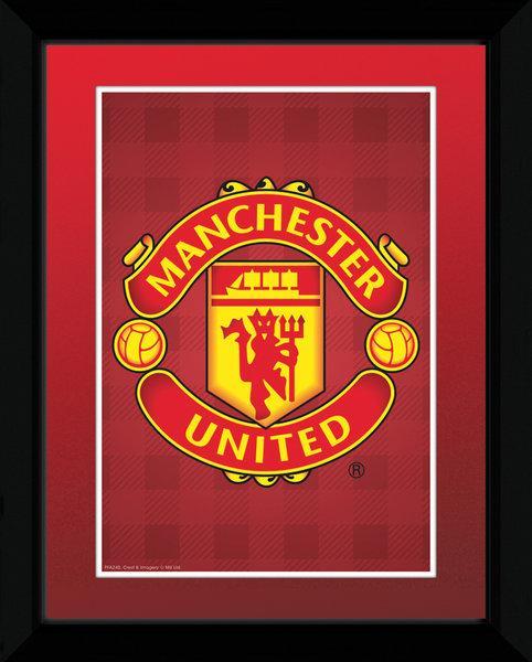 Affiche Encadr E De L 39 Cusson Du Club De Foot Manchester United Acheter Affiche Encadr E De L