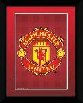 Affiche encadrée de l'écusson du club de foot Manchester United