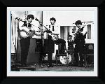 Photo noir et blanc encadrée des Beatles Studio