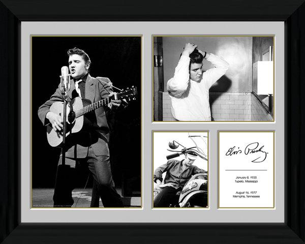 affiches posters p le m le encadr elvis presley. Black Bedroom Furniture Sets. Home Design Ideas