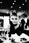Poster Audrey Hepburn (Breakfast At Tiffany's B&W)
