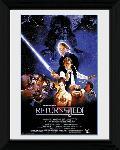 Affiche encadrée du film Star Wars le Retour du Jedi