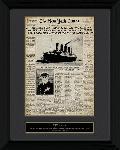 Affiche enacdrée du Titanic Newspaper