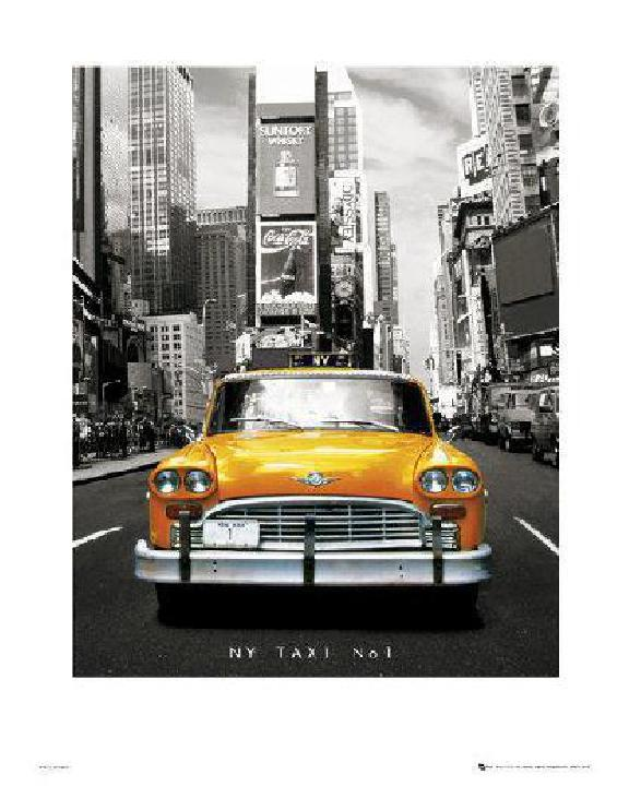 affiche art print taxi jaune n 1 de new york acheter. Black Bedroom Furniture Sets. Home Design Ideas
