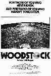 Affiche noir & blanc du documentaire Woodstock