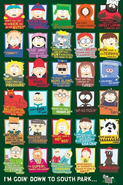 affiche des personnages de south park acheter affiche. Black Bedroom Furniture Sets. Home Design Ideas
