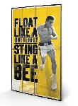 Impression sur bois de Mohamed Ali Float Like a Butterfly