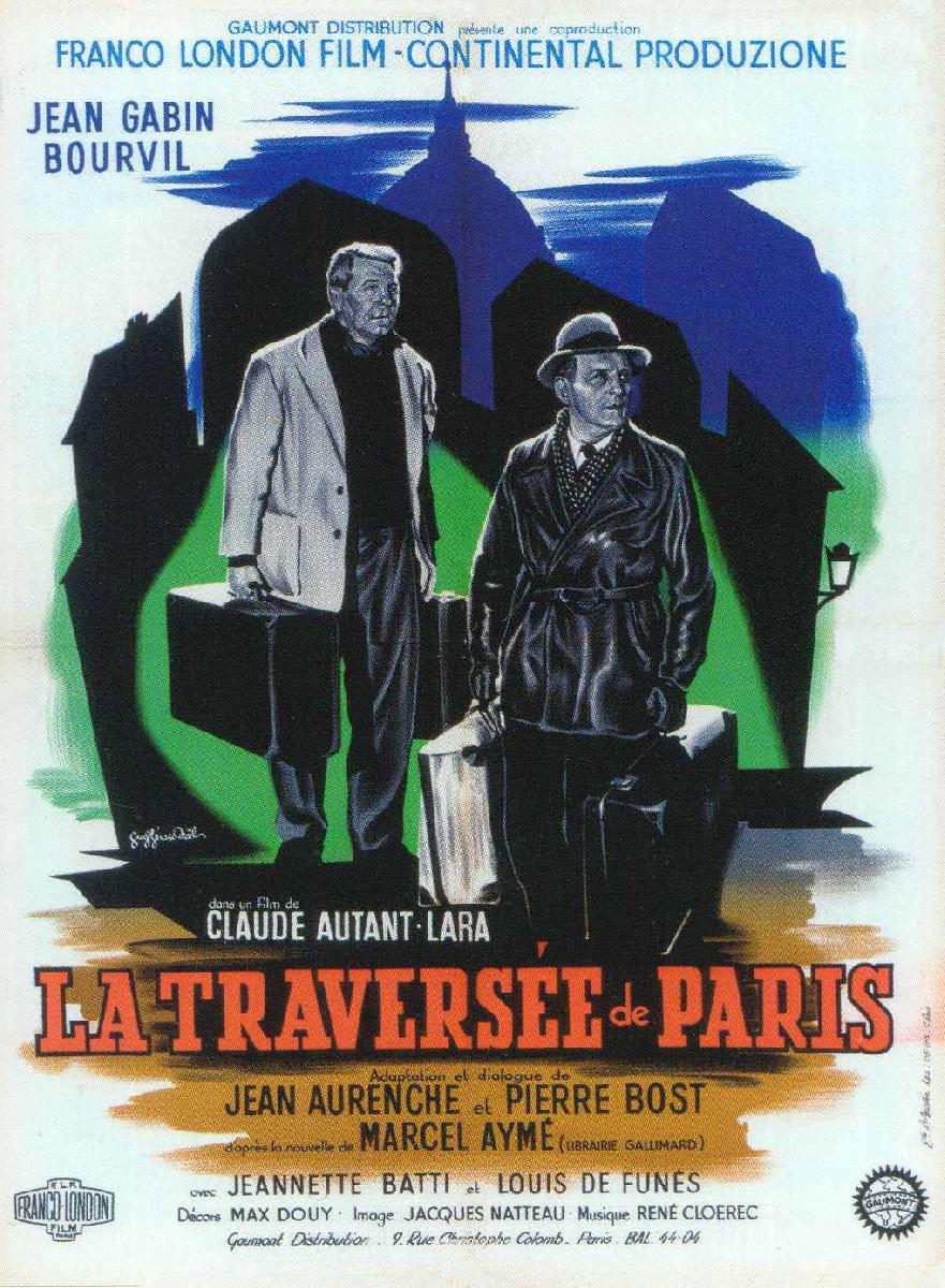 poster du film la travers e de paris acheter poster du film la travers e de paris 4512. Black Bedroom Furniture Sets. Home Design Ideas