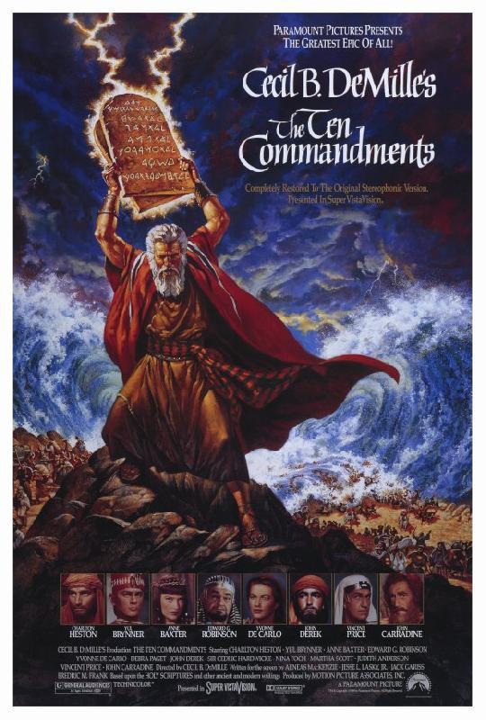 affiche du film les dix commandements acheter affiche du film les dix commandements 4555. Black Bedroom Furniture Sets. Home Design Ideas